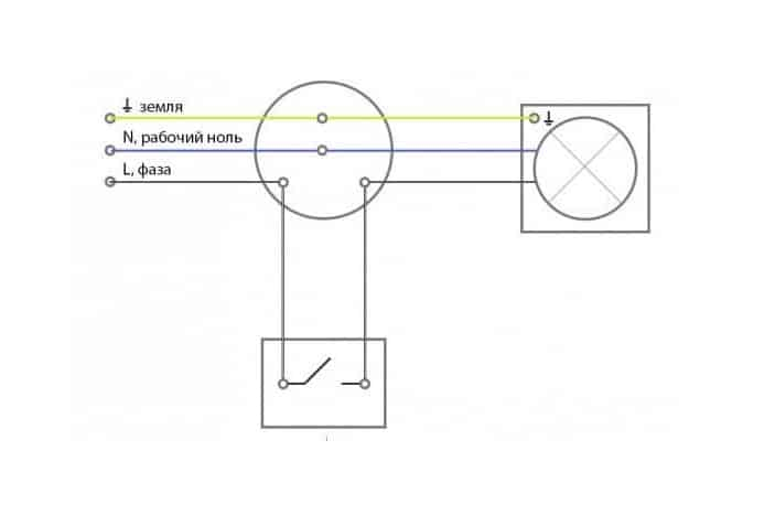подключение люстры к трехпроводной сети