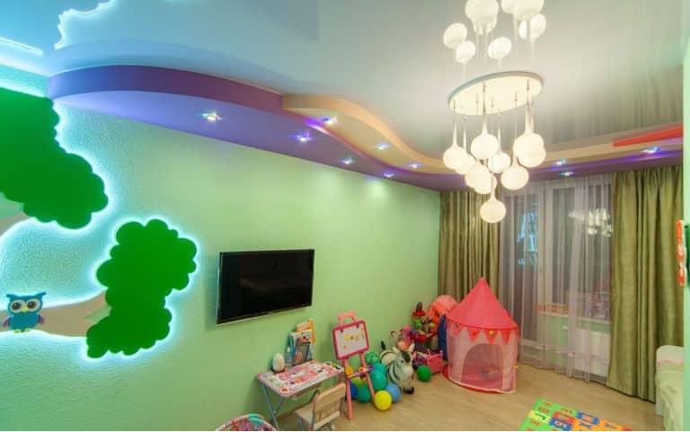 Декоративное освещение в детской