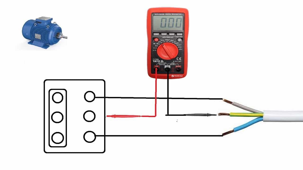 Измерение силы тока в цепи электродвигателя
