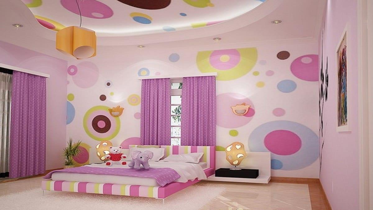 Освещение для комнаты девочки