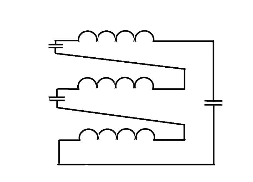 Подключение конденсаторов между обмотками асинхронного двигателя
