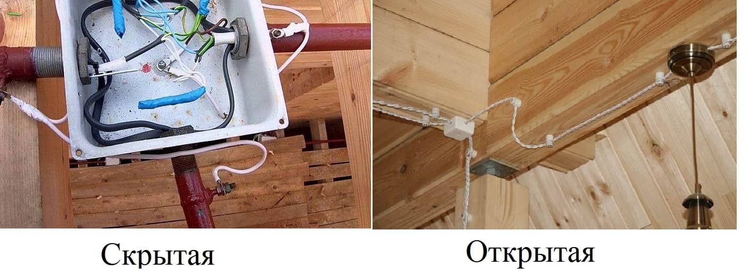 Проводка в деревянных домах