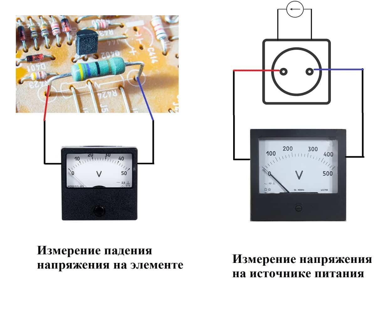 Схема измерения напряжения