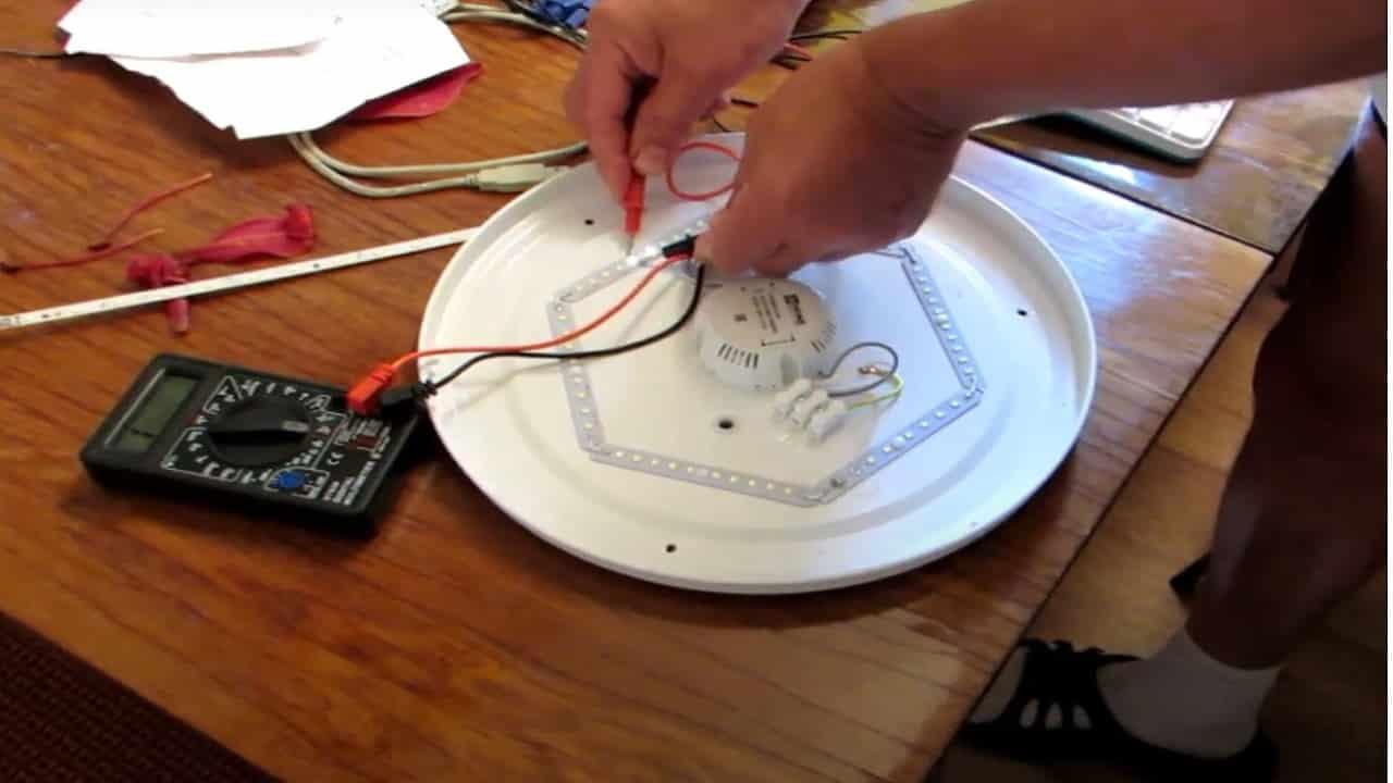 Проверка светодиодов в светодиодной люстре