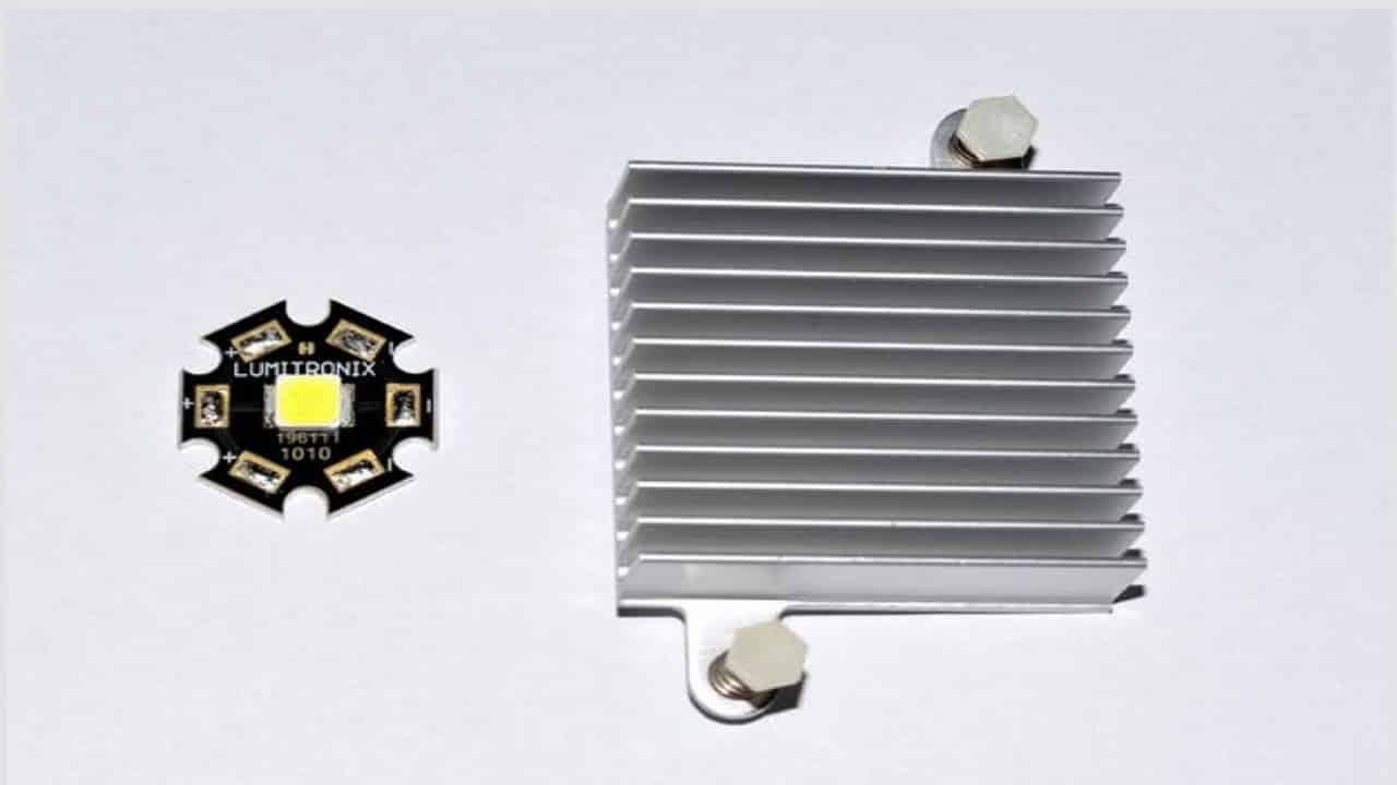 Светодиодный модуль и радиатор