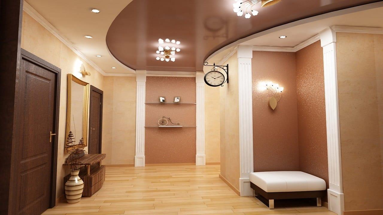 Освещение коридора с натяжным потолком