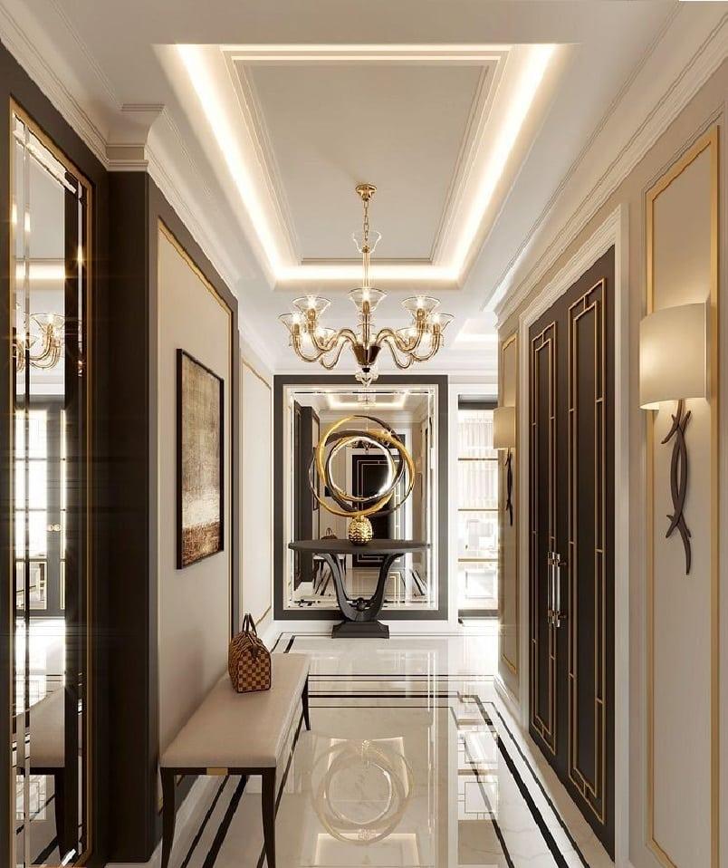 Освещение в коридоре с гипсокартонным потолком