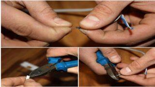 Зачистите концы проводов