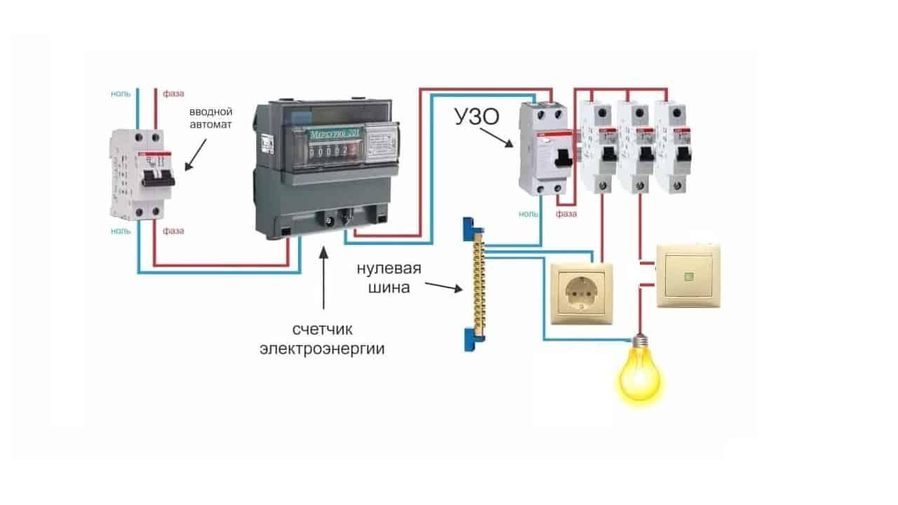 Выключатель в фазном проводнике