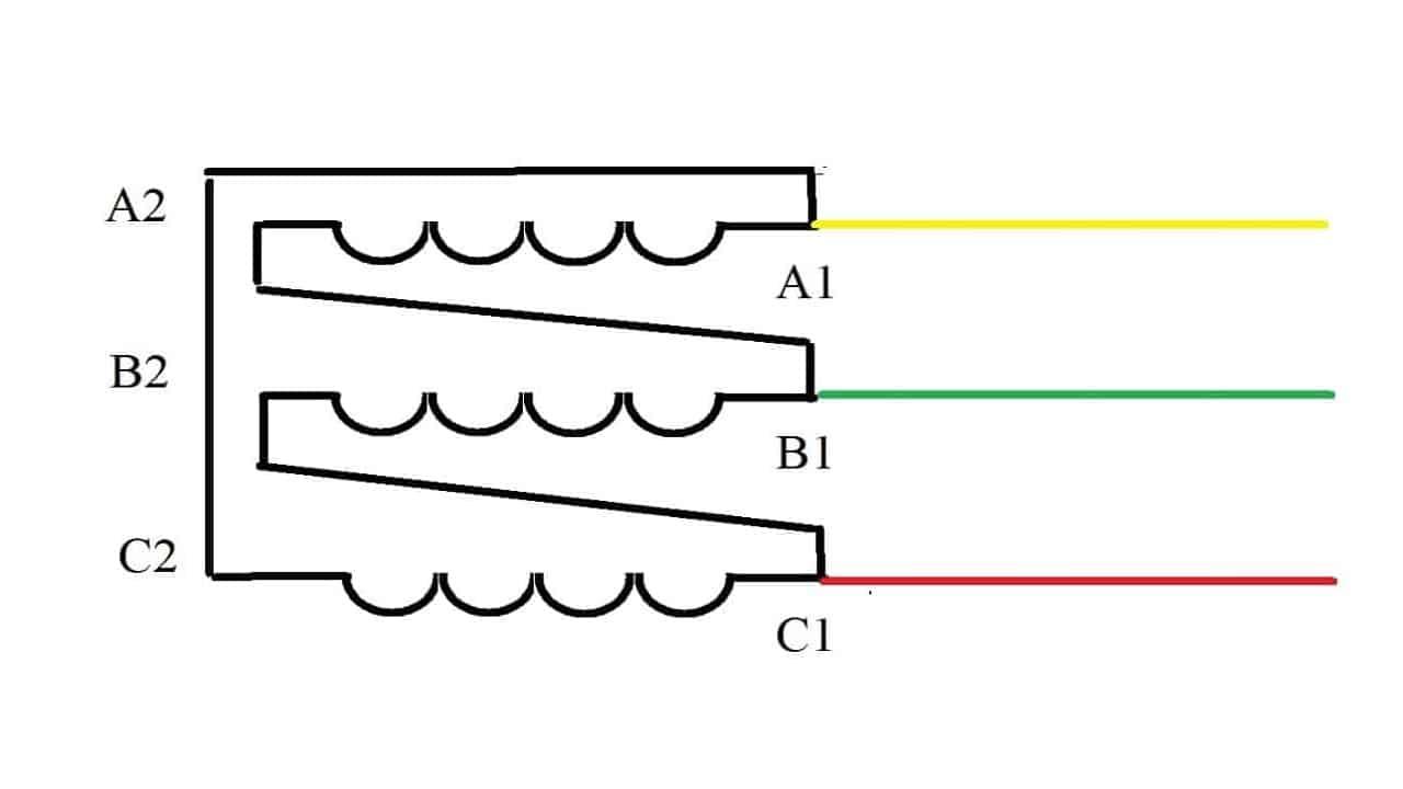 Подключение обмоток треугольником