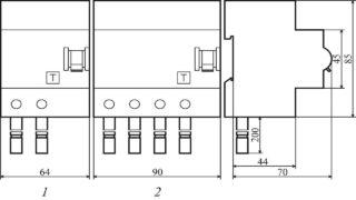 Блоки дифференциального тока с номинальным током до 100 А