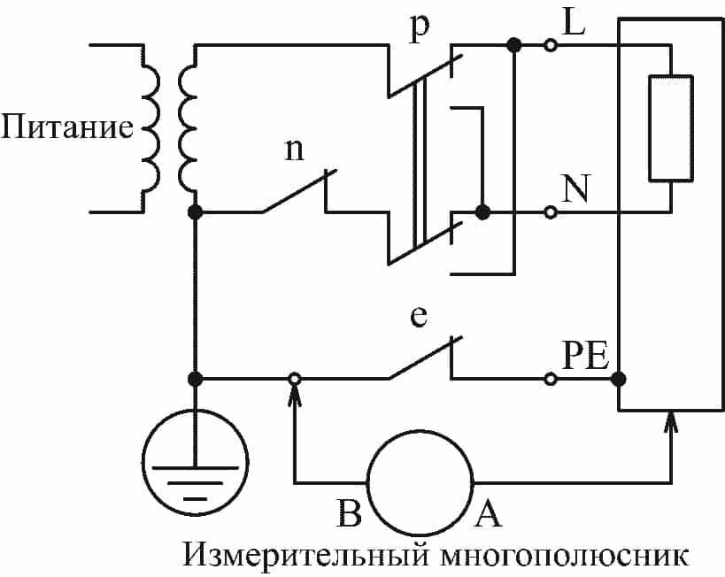 Однофазное оборудование в системе TN или TT с источником питания, соединенным звездой