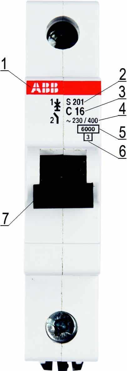Маркировка автоматического выключателя серии S200