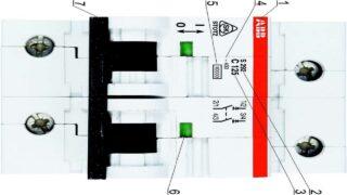 Маркировка двухполюсного автоматического выключателя-1280-720
