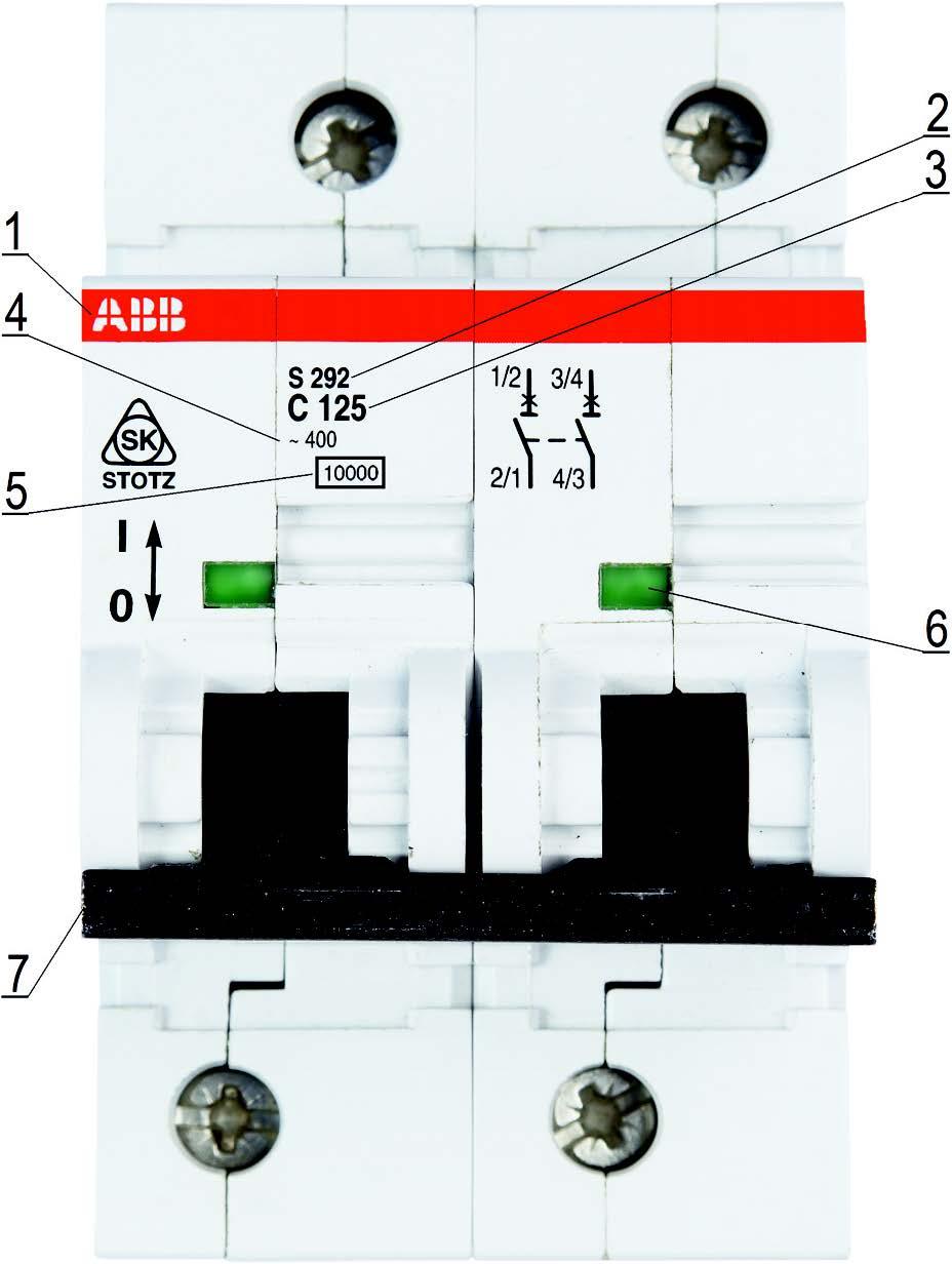 Маркировка двухполюсного автоматического выключателя