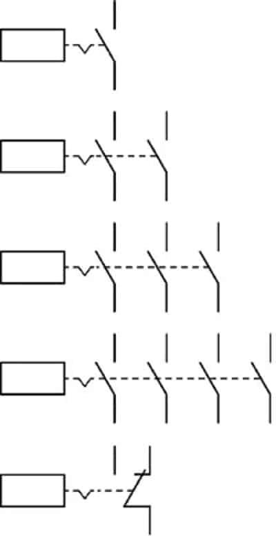 Одно-, двух-, трёх- и четырёхполюсные ВДУ с замыкающими контактами, однополюсные ВДУ с переключающими контактами