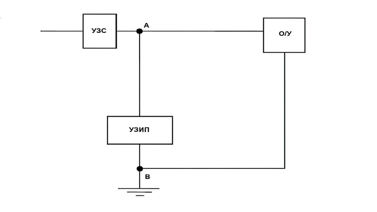 Защитное устройство, входящее в состав электроустановки