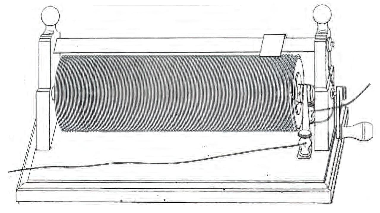 Реостат на основе рисунка Чарльза Уитстона