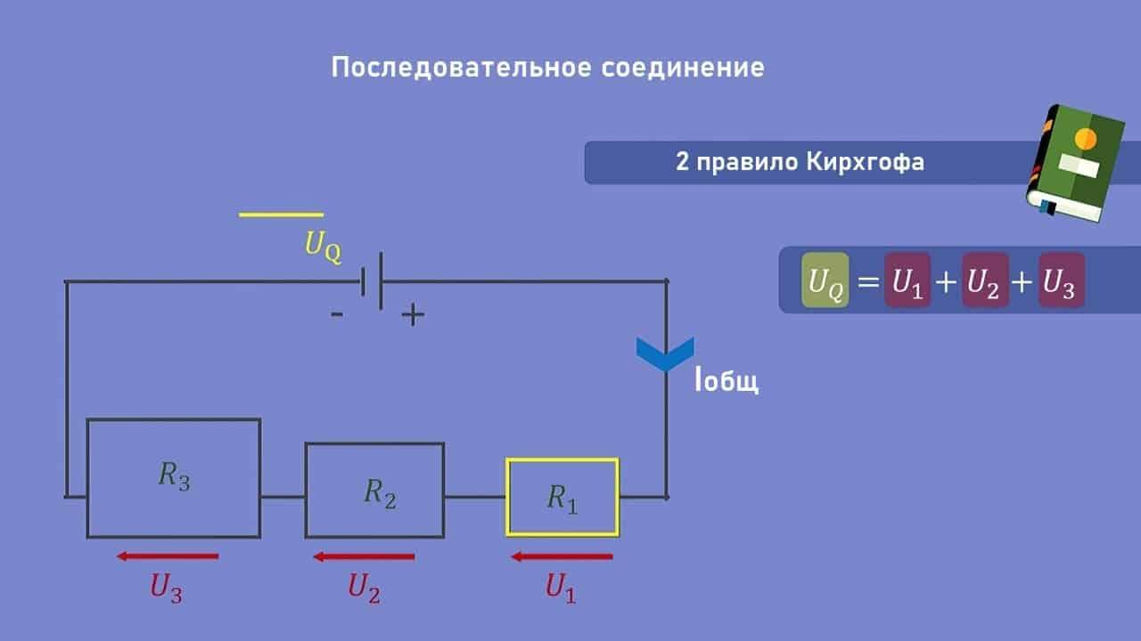 Электрическое напряжение в цепях с последовательным соединением